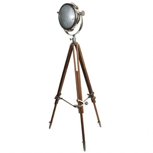 Dramatic Tripod Rolls Floor Lamp
